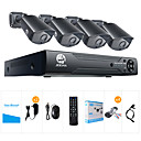 cheap DVR Kits-JOOAN® 2MP AHD Security System 4 X 1080P Weatherproof TVI Camera  And 1080N 8CH DVR Recorder