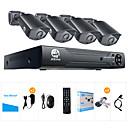 baratos Kit DVR-jooan® 2mp ahd sistema de segurança 4 x 1080p câmera à prova de intempéries tvi e 1080n 8ch dvr recorder