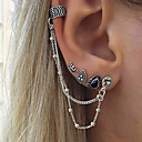 cheap Earrings-Women's Clip on Earring Mismatch Earrings Hanging Earrings cuff Drop Crown Personalized Vintage Bohemian Earrings Jewelry Silver For Gift Casual Evening Party Street