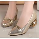 olcso Női magassarkú cipők-Női Cipő Nubuk bőr Tavasz / Ősz Kényelmes Magassarkúak Tűsarok Fekete / Sárga