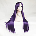 cheap Synthetic Capless Wigs-Synthetic Wig / Cosplay & Costume Wigs Straight Asymmetrical Haircut / With Bangs Synthetic Hair Natural Hairline Purple Wig Women's Long Capless