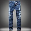 billige Stativer og holdere-Herre Lin Chinos Jeans Bukser - dratt, Ensfarget