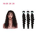 olcso Természetes színű póthajak-3 csomópont bezárásával Perui haj Laza hullám Remy haj Emberi haj sző 8a Human Hair Extensions