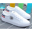 baratos Tênis Feminino-Mulheres Sapatos Couro Ecológico Primavera / Outono Conforto Tênis Branco / Preto