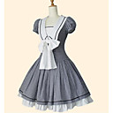 cheap Lolita Wigs-Sailor Lolita Dress Women's / Girls' Dress Cosplay Black Short Sleeve Knee Length