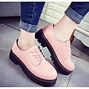 ieftine Oxfords de Damă-Pentru femei Pantofi PU Primăvară / Toamnă Confortabili Oxfords Alb / Negru / Roz