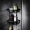 halpa Kylpyhuonehyllyt-Kylpyhuonehylly Korkealaatuinen Moderni Metalli 1 kpl - Hotelli kylpy Seinäasennus