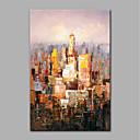 tanie Obrazy olejne-Hang-Malowane obraz olejny Ręcznie malowane - Abstrakcja Nowoczesny Zwinięte płótna / Zwijane płótno