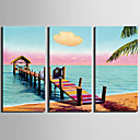 cheap Wall Stickers-Print Landscape Modern Three Panels
