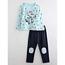 זול הלבשה תחתונה וגרביים לבנים-לבוש שינה כותנה שרוול ארוך אנימציה בנים פעוטות