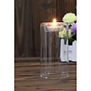 זול נרות ופמוטים-מודרני / עכשווי זכוכית פמוטים Candelabra 1pc, מחזיק נר / נרות