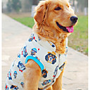 billige Hundetøj-Hund Vest Hundetøj Tegneserie Beige polyester Kostume For kæledyr Herre / Dame Afslappet / Hverdag