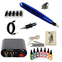 cheap Starter Tattoo Kits-Tattoo Machine Starter Kit - 1 pcs Tattoo Machines with 7 x 15 ml tattoo inks, Professional Mini power supply Case Not Included 1 rotary machine liner & shader