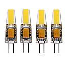 billige Kornpærer med LED-jiawen 4pcs 4w 320lm g4 led corn lyser t 1 ledet perler integrere ledet vanntett / dekorative varm hvit / kald hvit dc 12v