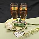preiswerte Rahmen und Schreib-Unterlagen-Zinklegierung Toasten Flöten Geschenkbox Hochzeit Ganzjährig