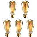 cheap Ceiling Lights-5pcs 40 W E26 / E27 ST64 Warm White 2200-2700 k Retro / Dimmable / Decorative Incandescent Vintage Edison Light Bulb 220-240 V