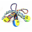 preiswerte Hundekleidung-Hund Hundespielzeug Haustierspielsachen Kau-Spielzeug Tennisball Baumwolle Für Haustiere