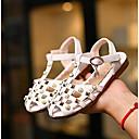 זול נעלי ילדות-בנות נעליים דמוי עור קיץ נעליים לילדת הפרחים סנדלים ל לבן / ורוד