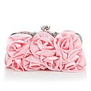 cheap Wedding Shoes-Women's Bags Silk Evening Bag Appliques Silver / Blushing Pink