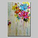 זול ציורי שמן-ציור שמן צבוע-Hang מצויר ביד - מופשט מופשט (אבסטרקטי) / מודרני כלול מסגרת פנימית / בד מתוח