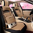 זול כיסויים להגה-ODEER כיסויי למושבים לרכב כיסויים בז' פִּשׁתָן סרט מצוייר עבור אוניברסלי כל השנים