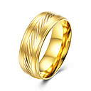 cheap Body Jewelry-Men's Band Ring - Titanium Steel Basic, Fashion 7 / 8 / 9 Gold For Party / Engagement / Daily