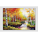 cheap Landscape Paintings-Oil Painting Hand Painted - Landscape Comtemporary Canvas