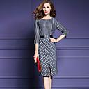 Χαμηλού Κόστους Αξεσουάρ PS3-Γυναικεία Μεγάλα Μεγέθη Λεπτό Θήκη Φόρεμα Στάμπα