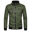 cheap Camp Kitchen-Men's Street chic Jacket-Solid Colored Stand