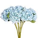 זול פרח מלאכותי-פרחים מלאכותיים 2 ענף פסטורלי סגנון הורטנזיות פרחים לשולחן