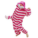 hesapli Mum Hediyelikler-Yetişkin Kigurumi Pijama Kedi Chesire Kedi Onesie Pijama Polar Kumaş Kırmzı Cosplay İçin Erkek ve Kadın Hayvan Sleepwear Karikatür cadılar bayramı Festival / Tatil