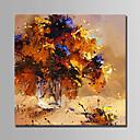 olcso Hullámos vászonnyomtatás-Hang festett olajfestmény Kézzel festett - Absztrakt Absztrakt Vászon