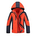 cheap Softshell, Fleece & Hiking Jackets-Men's Hiking 3-in-1 Jackets Outdoor Winter Windproof 3-in-1 Jacket Top Full Length Visible Zipper Camping / Hiking Climbing Cycling /