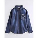 tanie Kurtki i płaszcze dla chłopców-Dzieci Dla chłopców Solidne kolory Długi rękaw Bawełna Bluzka Granatowy 140