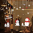 preiswerte Weihnachtsschmuck-Dekorative Wand Sticker - Flugzeug-Wand Sticker Weihnachten / Cartoon Design / Worte & Zitate Wohnzimmer / Esszimmer / Shops / Cafés