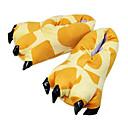 cheap Kigurumi Pajamas-Adults' Kigurumi Pajamas Slippers Giraffe Animal Onesie Pajamas Polyester Cotton Yellow Cosplay For Men and Women Animal Sleepwear Cartoon Festival / Holiday Costumes