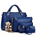 رخيصةأون مجموعات حقائب-نساء أكياس PU مجموعات حقيبة 4 قطع محفظة مجموعة سحاب إلى فضفاض كل الفصول أزرق أسود أحمر البيج أصفر
