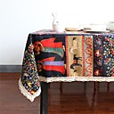 cheap Table Cloths-Linen / Cotton Blend Rectangular / Square Table cloths Bohemian Style Eco-friendly Table Decorations 1 pcs