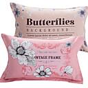 billige Sengetøj-Pudebetræk - 100% bomuld Reaktivt Print Blomstret 2stk Pudebetræk