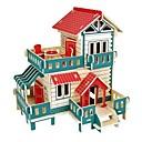olcso Modellek és modellkészletek-3D építőjátékok Fejtörő Wood Model Modeli i makete Házak Divat Kastély Ház Klasszikus Divat Új design Gyermekek DIY Hot eladó Fa 1pcs