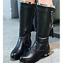 abordables Zapatos de Niña-Chica Zapatos Cuero Invierno Confort / Botas de Moda Botas para Negro / Rojo / Rosa
