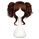 cheap Lolita Wigs-Lolita Wigs Classic Lolita Dress Black / Brown Lolita Lolita Wig 14 inch Cosplay Wigs Solid Colored Wig Halloween Wigs