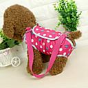 abordables Básicos de Viaje para Perros-Gato Perro Bolsa de hombro Mascotas Portadores Portátil A Lunares Azul Rosa