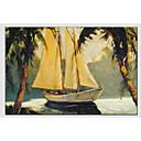 cheap Landscape Paintings-Oil Painting Hand Painted - Landscape Classic Canvas