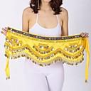 cheap Dance Accessories-Belly Dance Hip Scarves Women's Performance Velvet Chiffon Paillette Hip Scarf