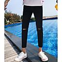 tanie Modne naszyjniki-Męskie Podstawowy Szczupła Typu Chino Spodnie Solidne kolory