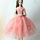 ieftine Accesorii de Barbie-Rochii Rochie Pentru Barbie Doll Roz Dantelă organza Rochie Pentru Fata lui păpușă de jucărie