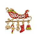 cheap Religious Jewelry-Brooches - Imitation Diamond Simple Brooch Gold For Christmas