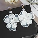 tanie Modne bransoletki-Damskie Frędzel / Żyrandol / Długa Kolczyki wiszące - Kwiatowe / Botanicals, Kwiat Słodkie, Modny White Na Codzienny