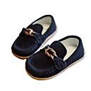 baratos Sapatos de Menino-Para Meninos Sapatos Pele Nobuck / Couro Primavera Conforto Mocassins e Slip-Ons para Preto / Cinzento